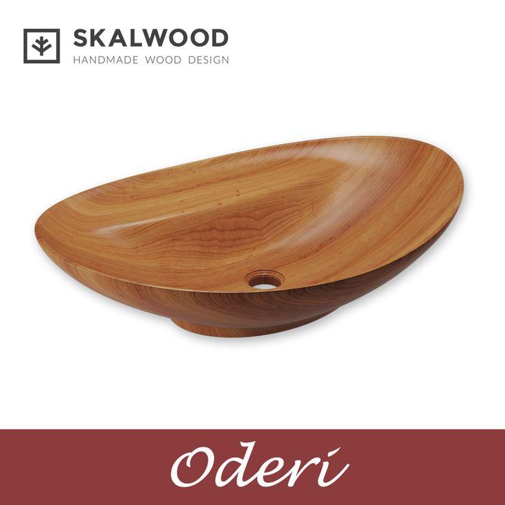 Drewniana umywalka SKALWOOD - ODERI http://skalwood.com/umywalka-drewniana-oderi.html  #Skalwood #wood #design #bathroom #washbasin #drewno