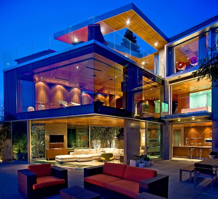 Mansion dream house: Glass House of Dr. Stefan Lemperle in San ...