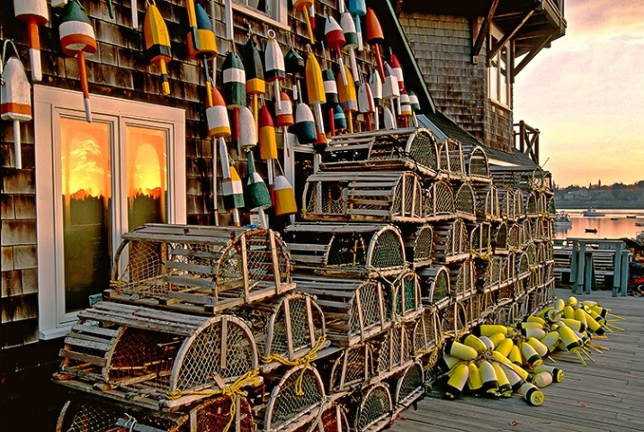 Lobster traps...had one of these when we lived there. Always intended to make a coffee table with it and never did. Wish I had it today.