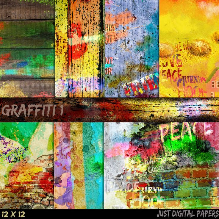 Graffiti paper, Grunge Papers, Brick wall Papers, Hand Painted Papers, City Papers, Teenage Papers, Instant Download, Photo Background by JustDigitalPapers on Etsy