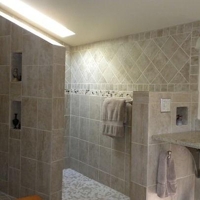 doorless shower bathroom ideas pinterest