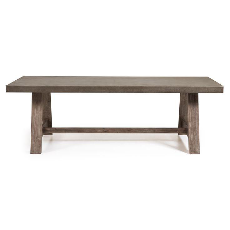 Masa dining lemn si ciment 240x100 cm Brenton La Forma