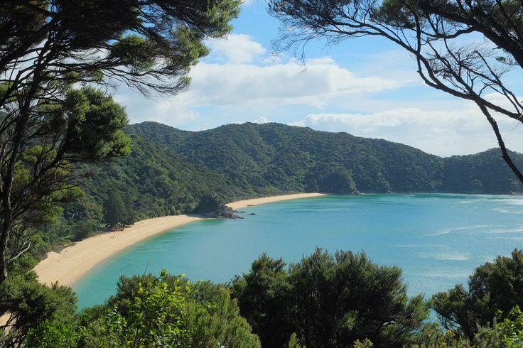 Anatakapau Bay and Mutton Cove, just one of the beautiful bays you'll see along the Abel Tasman National Park Coastal Path.