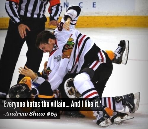 I hate Andrew Shaw so fucking much... He knows everyone hates him, he knows he's the bad guy, and he knows what he's doing. Ugh I hate him.