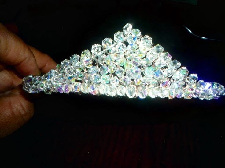 Crystal sleeping beauty crown.