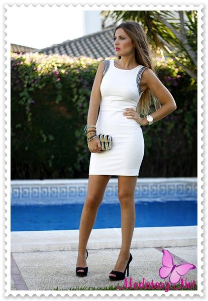2015 Yaz Modası Beyaz Mini Abiye Elbise Modelleri   Modatarz.Net - Tarzını yansıt
