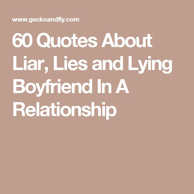 cheating and lying in a relationship