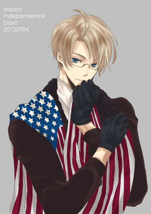 かのう - Hetalia - America (Alfred F. Jones) yes it is Independance day tomorrow but I'm just starting to put up stuff early just in case I'm busy Enjoy^^