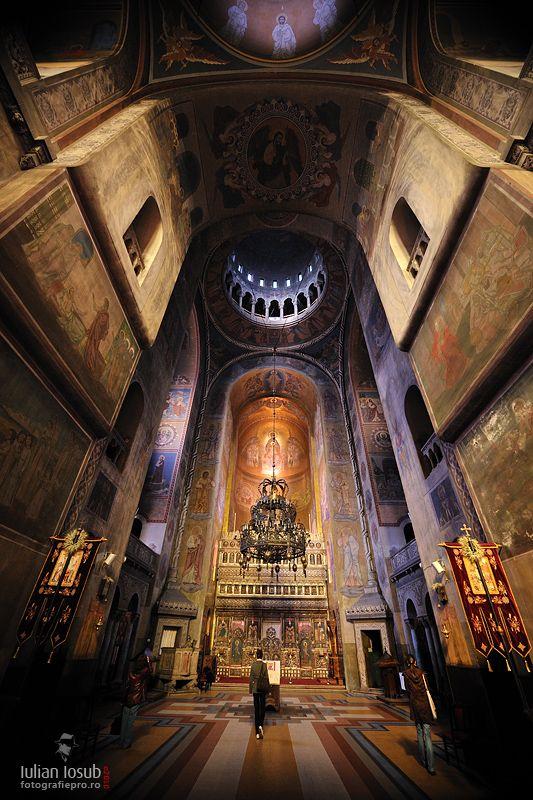 Orthodox church interior, Cluj Napoca. Romania.