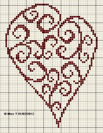cross stitch freebie.. quick for valentines