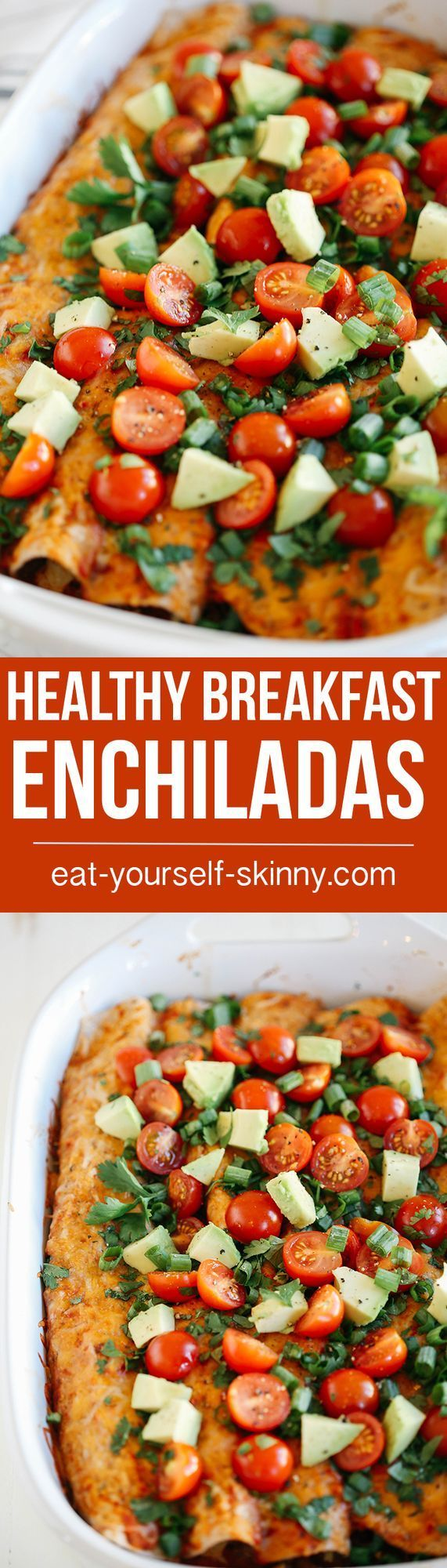 WOW so we need to talk about these enchiladas. Yes BREAKFAST enchiladas. As you know, breakfast is the most important meal of the day so obviously you want to make sure it's good! And these Healthy Br