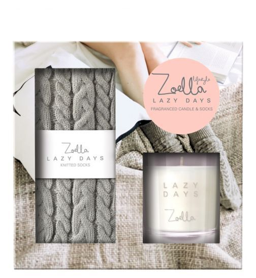 Zoella | Fragranced Candle and Socks | Gift | - Boots
