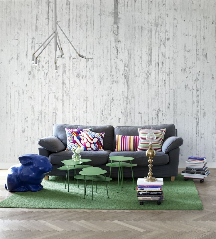 Rustic Living | Concrete Wallpaper by Mr Perswall | Jane Clayton