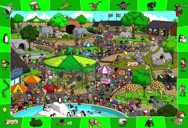 zoekplaat: de dierentuin