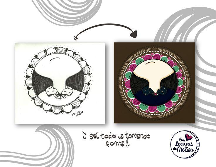 """Preview: """"El cuello de flores"""" Ilustración digital Melisa Amaya Ilustradora & diseñadora © Todos los Derechos Reservados"""