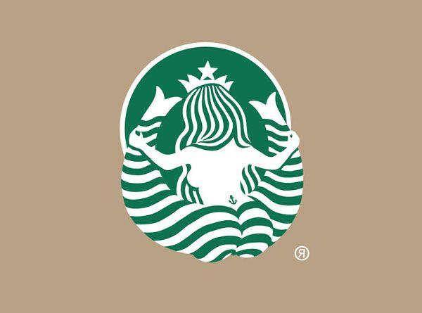 """el lado b de las marcas """"starbucks"""" en: http://rayvellest.com/starbucks-logo-from-behind"""