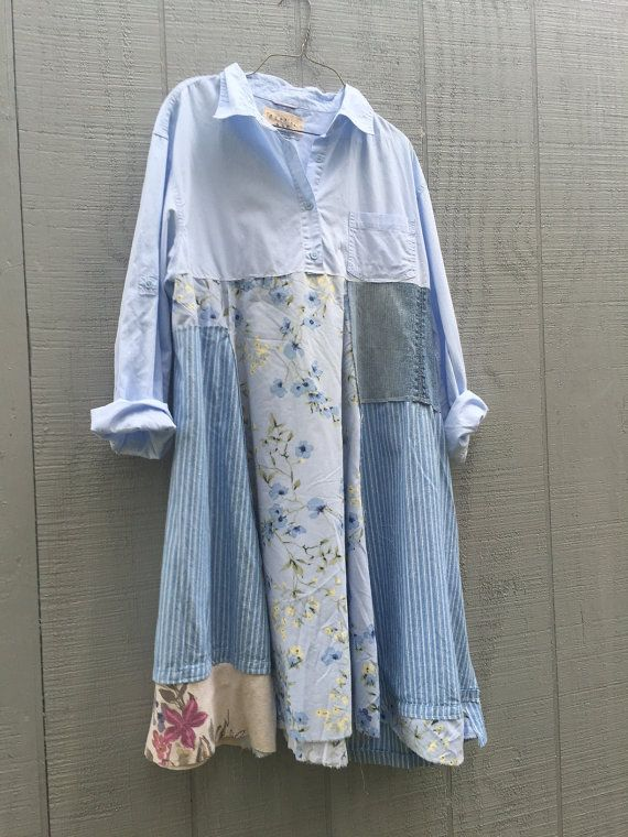 upcycled cotton Dress / romantic Upcycled / Patchwork by CreoleSha