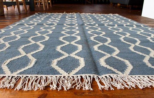 Rope Rug (Blue/Winter White) - WARINGS Store