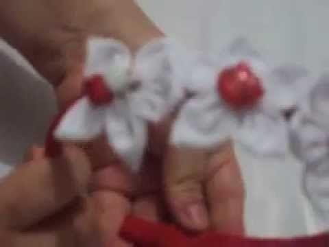 Paso a paso de como hacer una diadema con flores de tela - Como hacer diademas ...