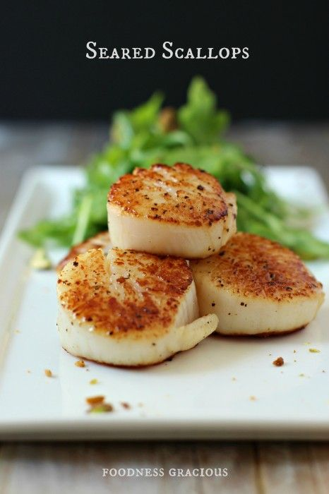 Seared Scallops | FoodnessGracious.com