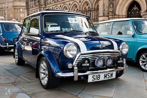 Awesome blue Classic Mini Cooper