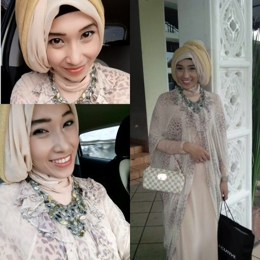 #batik #hijab #wedding party #lightbrown #smile #lv