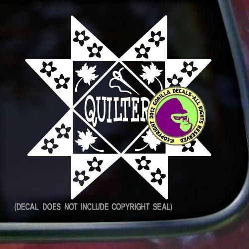 Quilter quilting vinyl decal sticker