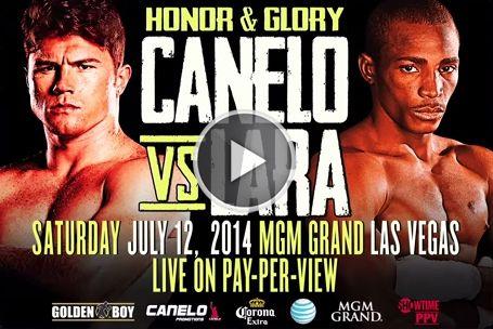 Canelo vs Lara Live Showtime PPV boxing.