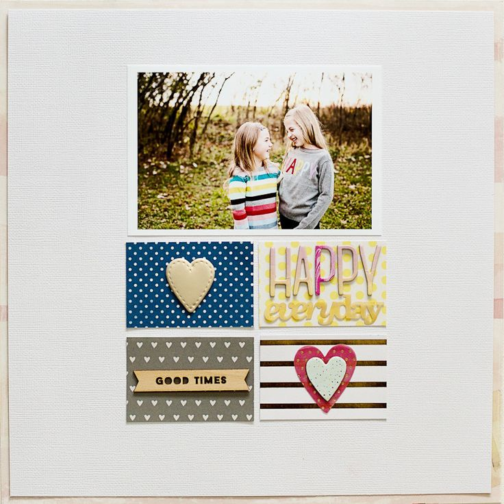 #Papercraft #scrapbook #layout. Happy Everyday by A2Kate at @studio_calico #studiocalico #scrapbooking