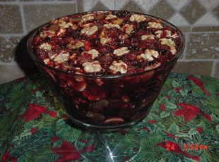 HOLIDAY JELLO WITH FRUIT