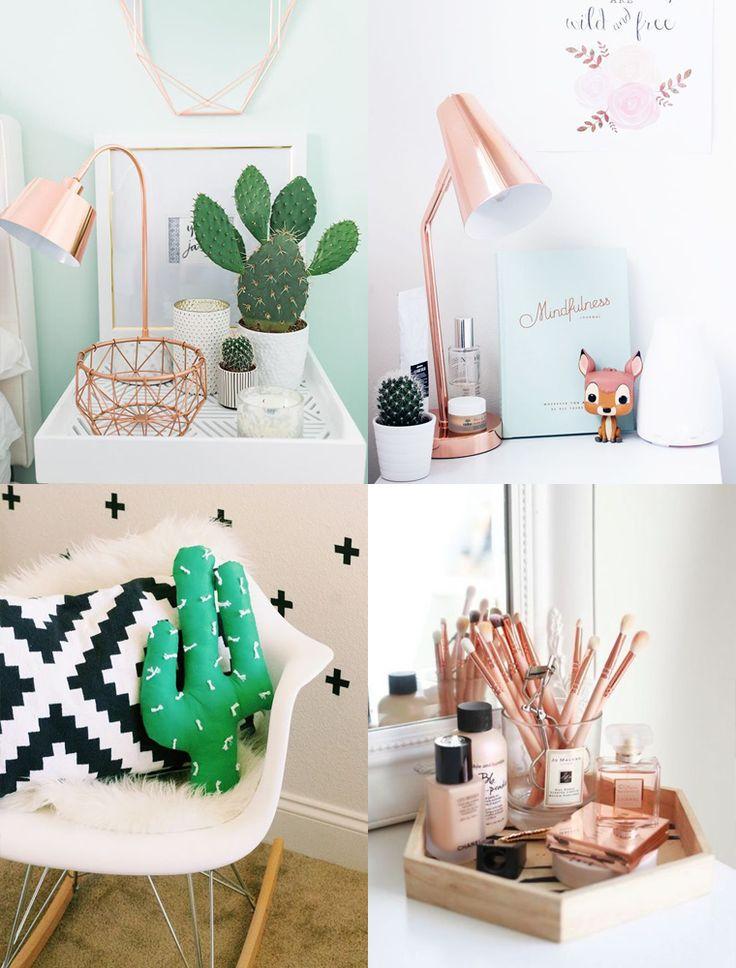 Decore seu ambiente com objetos decorativos super fofos. Decoração em rose gold