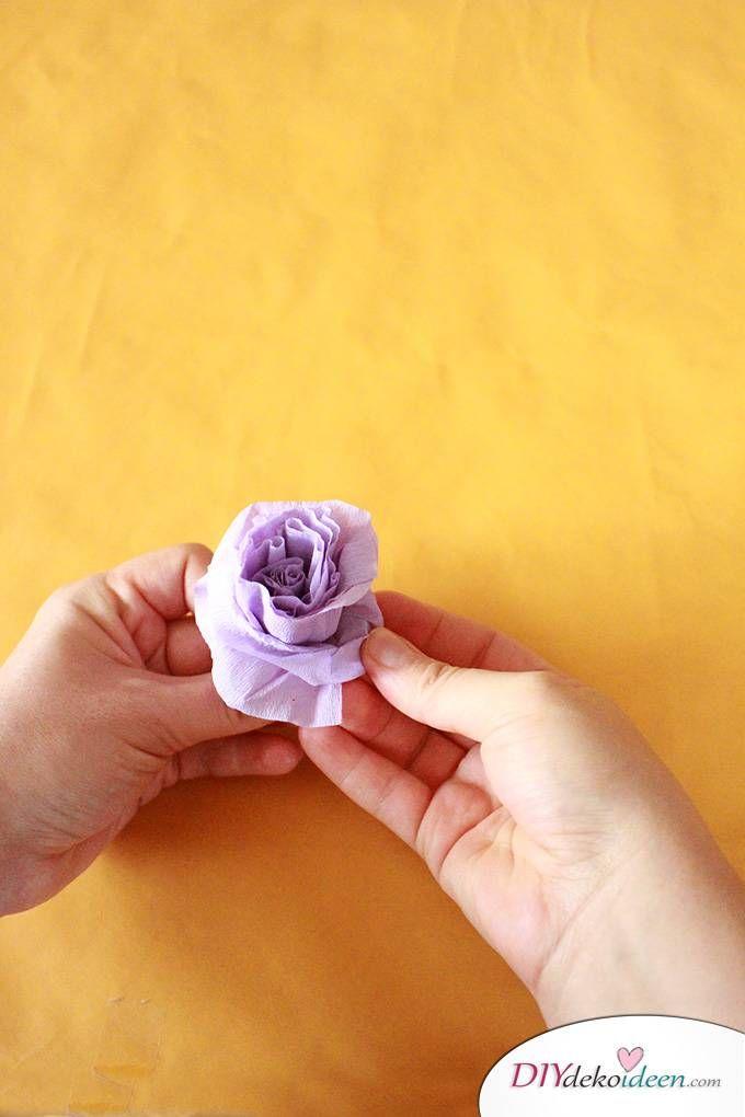 Spielerisch Rosen Basteln Mit Krepppapier Diy Bastelideen Für