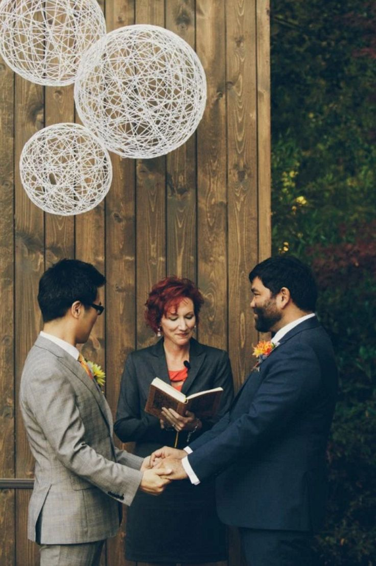 17 best images about same sex weddings ontario we are obsessed this ceremony backdrop detail oriented vintage mad men