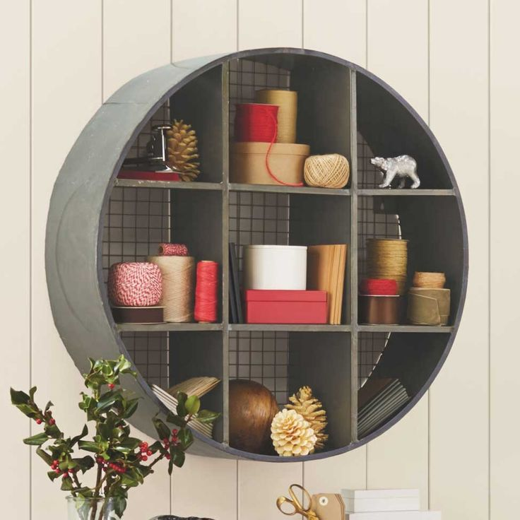 Round Metal Hanging Shelf Wall Shelves Design Unique