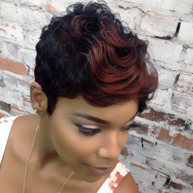 Hairstyles For Short Hair Fast : 109 best short black hair images on pinterest