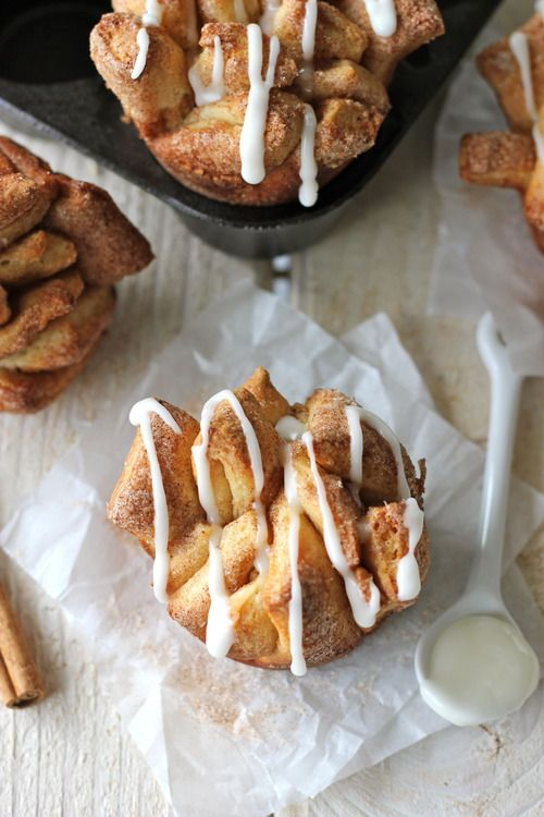 Brown Butter Cinnamon Sugar Pull Apart Bread with Butter Rum Glaze
