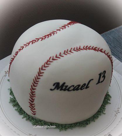 Pesäpallokakku / baseball cake