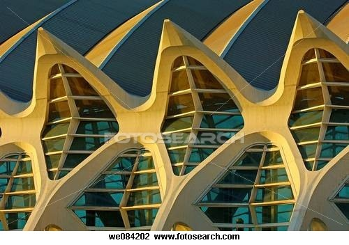 Prince Felipe Museum of Sciences, City of Arts and Sciences by S Calatrava, Valencia Comunidad Valenciana, Spain