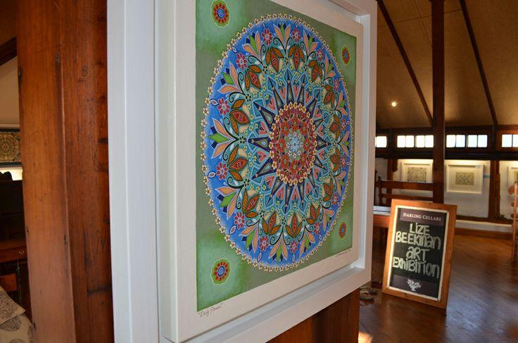 South African artist Lize Beekman Mandala art exhibition www.artlizebeekman.com