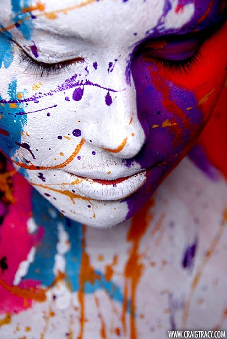 Painted alive, bodypaintings by Craig Tracy  *Sharing this for my face and body painting friends - Lynn