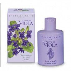 Accordo Viola illatú bőrtápláló fürdő- és tusolózselé ibolya illatú - Rendeld meg online! Parfüm és kozmetikum család az olasz Lerbolario naturkozmetikumoktól