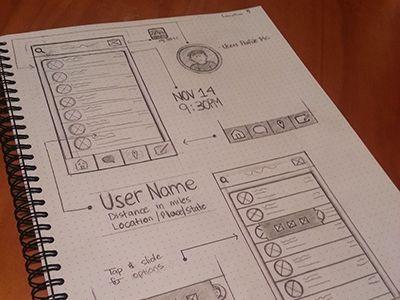 App Wireframe Sketch / Cat Smith #app #sketch #wireframe