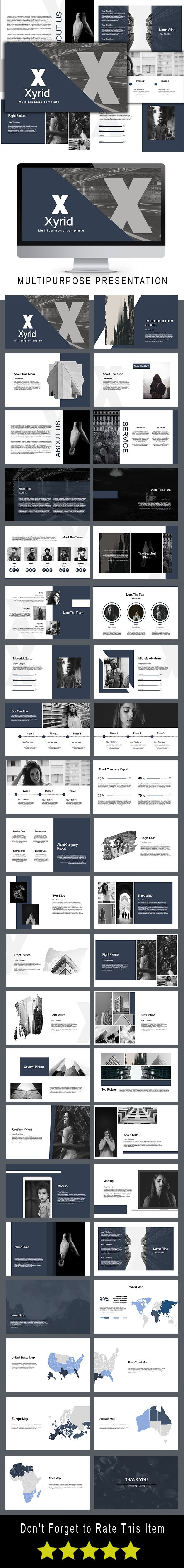 Xyrid Multipurpose Powerpoint Template - PowerPoint Templates Presentation Templates