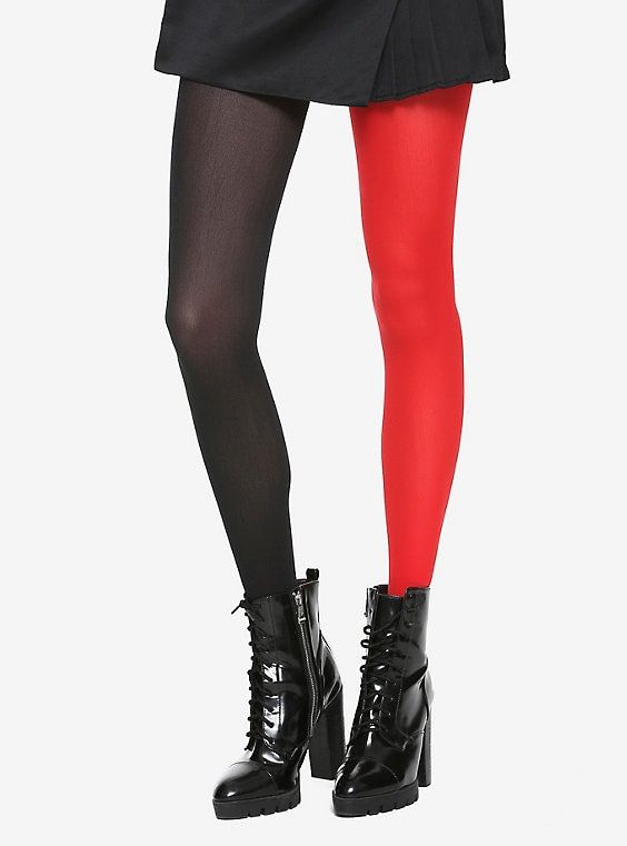 bea3b4dd3a45b Blackheart Black & Red Split Leg Tights   To Buy Or Not To Buy ...