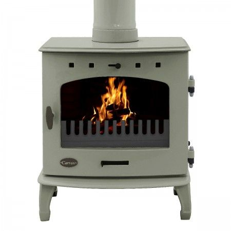 Carron Stove (7.3KW) in Sage Green Enamel #woodburner #fireplace #stoves