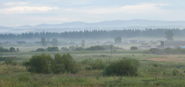 Туман на рассвете за Красноярском