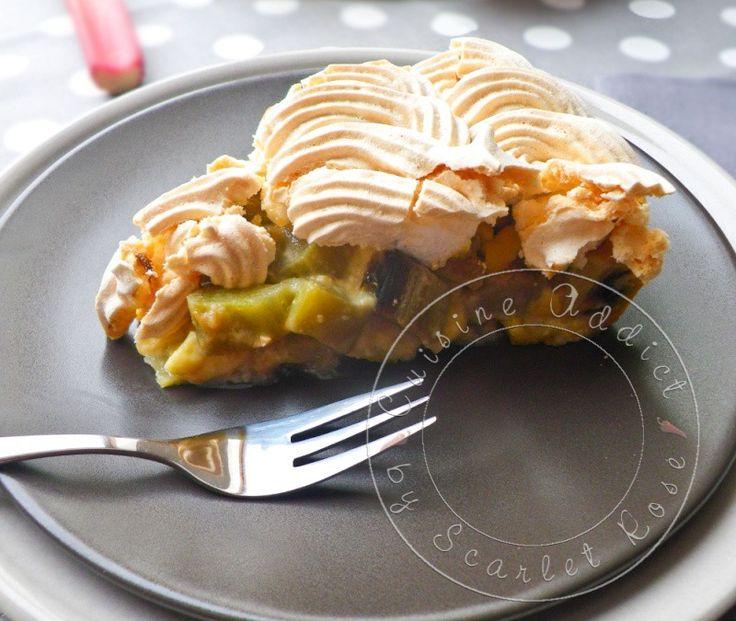 Tarte à la Rhubarbe meringuée Alsacienne / Alsacian rhubarb meringue pie