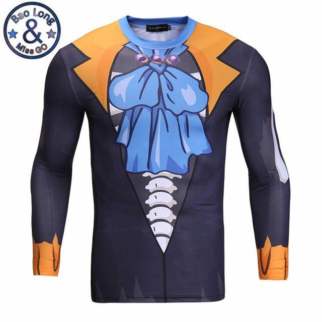 3d print strakke lange mouwen cosplay clothing anime een stuk brook t shirt slim fit t-shirt homme camisetas mannen vrouwen clothing