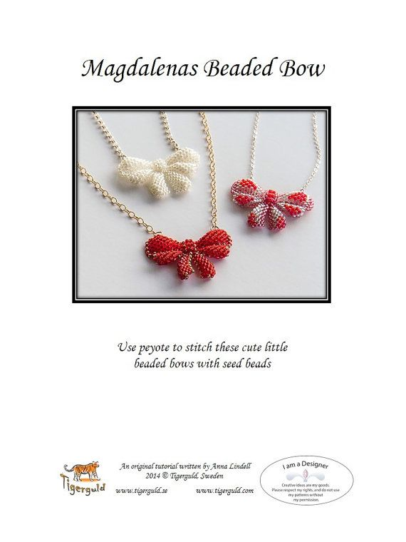 Magdalena's Beaded Bows  beading tutorial by Tigerguld on Etsy