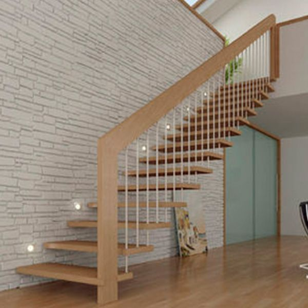 Residential Commercial Prefabricated Modern Metal Rod Cable | Prefab Oak Stair Treads | Hardwood Flooring | Wood Flooring | Wood Stair | Solid Oak | Risers